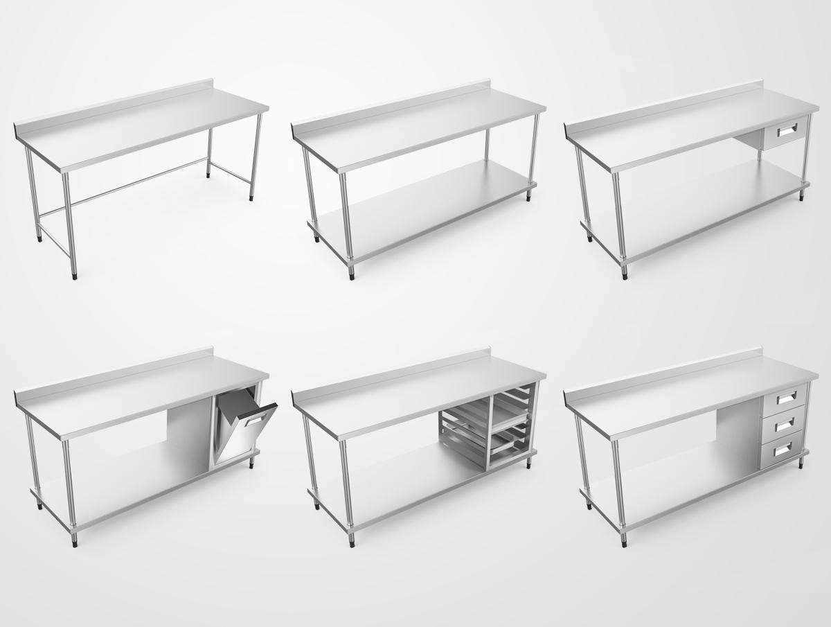 Mobiliário em aço inox ALFATEC (2) #666566 1200 905